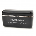 USB Rechargeable 2600mAh Mobile Power Bank for iPhone 5 / iPod Nano 7 / iPad Mini - Black + Silver