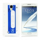 Cassette Style Silicone Back Case for Samsung Galaxy S4 / i9500 - White + Blue