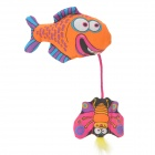 Cute Fish Butterfly Style Catnip Pet Cat Toy - Orange + Deep Pink