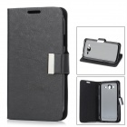 Protective PU Leather + Plastic Case for Samsung Galaxy Grand Duos i9082 - Black