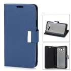 Stylish Protective PU Leather Case for Samsung Galaxy Grand Duos i9082 - Dark Blue + Black