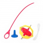 Plastic Magnetic Spinning Top  w/ Music / Flashlight - Red + Yellow + Blue (1 x AG13)