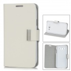 Stylish Protective PU Leather Case for Samsung Galaxy Grand Duos i9082 - White