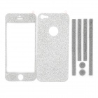 Protective Sparkling Diamond Skin Stickers Set for Iphone 5 - Silver