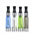 Y-13016Q Round Mouth Atomizer w/ Scale for Electronic Cigarette - Translucent + Black + Blue (4 PCS)