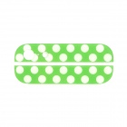 Polka Dots Pattern Replacement Top + Bottom Glass Back Cover for iPhone 5 - Green + White