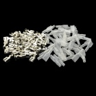 6.3mm Female Spade Crimp Terminal Connector Set w/ Waterproof Covers - Silver (50 PCS)