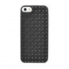 Protective Woven Pattern Back Case for Iphone 5 - Black