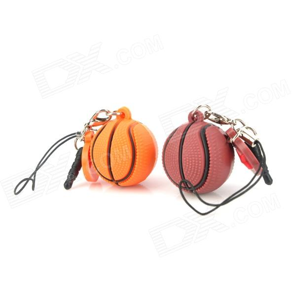 Cute Basketball Couple's Cell Phone Charms w/ Anti-dust Plug (2-Charm Pack)