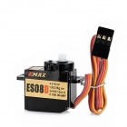 EMAX ES08D 8.5g Plastic Gear Analog Servo for Helicopter / Robot - Black