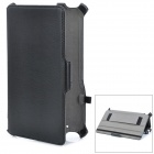 Protective PU Leather Case w/ Holder for Google Nexus 7 - Black