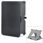 "Protective PU Leather Case w/ Holder for Amazon Kindle Fire HD 7"" - Black"