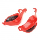 MO046 Off-Road Motorcycle ABS Windproof Hand Guard Support - Red + Black (2 PCS)