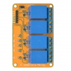 Meeeno MN-MD-R0412 4-Channel 12V Relay Module Expansion Board - Orange + Blue
