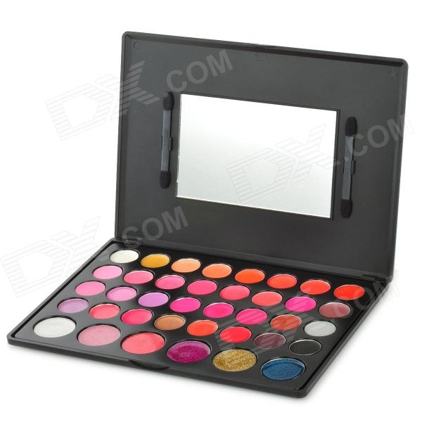 38-in-1 Professional Cosmetic Makeup Lipstick Plate w/ Mirror - Multicolored