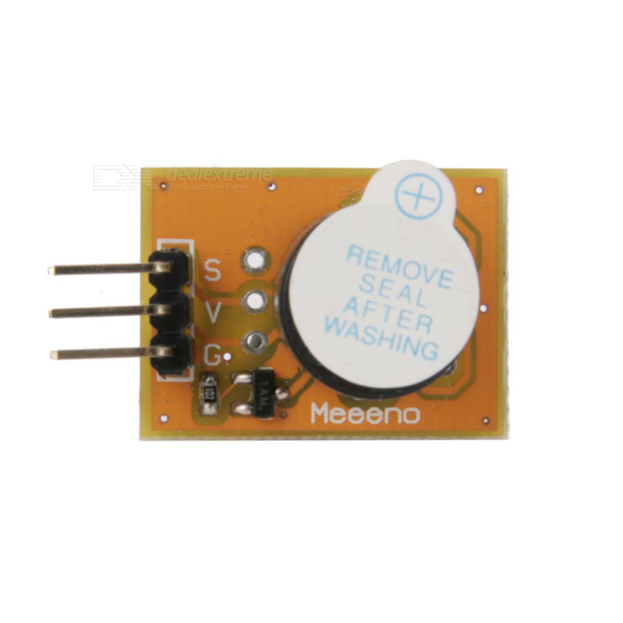 MeeenoMN-EB-BUZAC Onboard Active Buzzer Module - Orange + Black