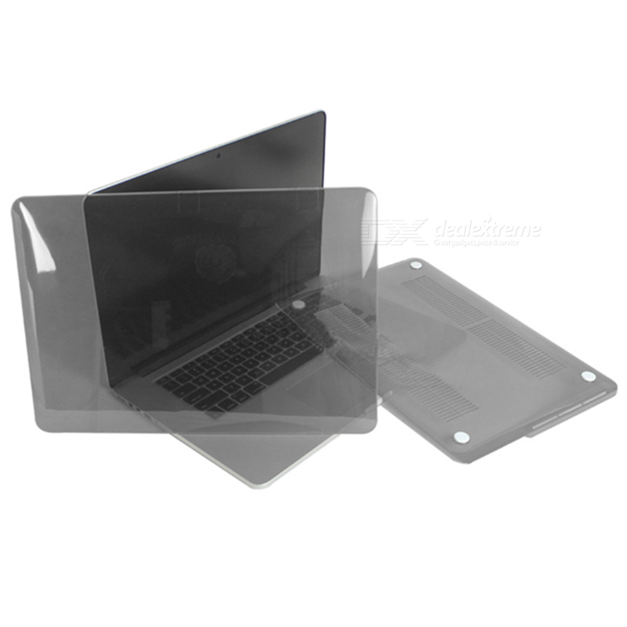 "ENKAY Protective Full Body PC Case for ""13-inch MacBook Pro with Retina Display"" - Translucent Gray"