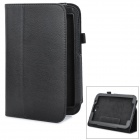 Magnetic Protective PU Leather Case w/ Holder for Samsung Galaxy Note 8.0 N5110 - Black