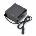 Rechargeable 8000mAh 4 x 2 Lithium-Ion 18650 Battery Pack for Bicycle Light - Black