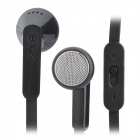BYZ-S600 Flat In-Ear Earphone w/ Microphone for Iphone 5 - Black (3.5mm Plug / 120cm)