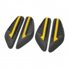 GD665 Universal Protective Soft Rubber Car Door Guard / Decoration - Black + Yellow (4 PCS)