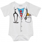 Doomagic Cute Doctor Style Infant Baby Bodysuit / Rompers Suit - White + Blue + Red + Black + Yellow