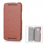 KALAIDENG Protective PU Leather Case for HTC New One / M7 - Brown