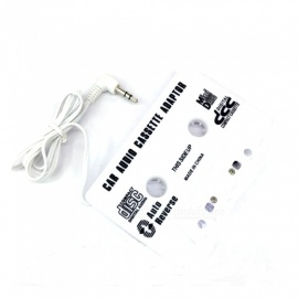 Car Cassette Tape Adapter Transmitters for MP3 / CD / DVD Player - White (3.5mm Plug)