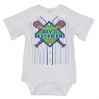 Doomagic Baseball Style Cotton Infant Baby Bodysuit / Rompers Suit - White + Blue + Red + Green