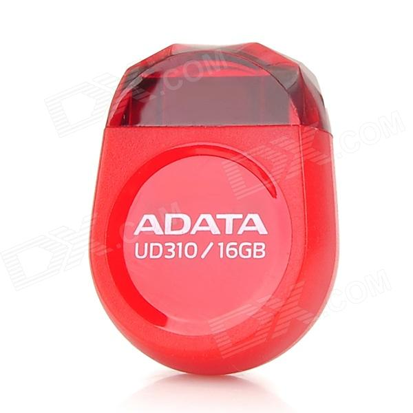 ADATA UD310 Super Mini High-Speed USB 2.0 Flash Disk Drive - Red (16GB) ice cream style usb 2 0 flash drive disk brown dark grey 4gb