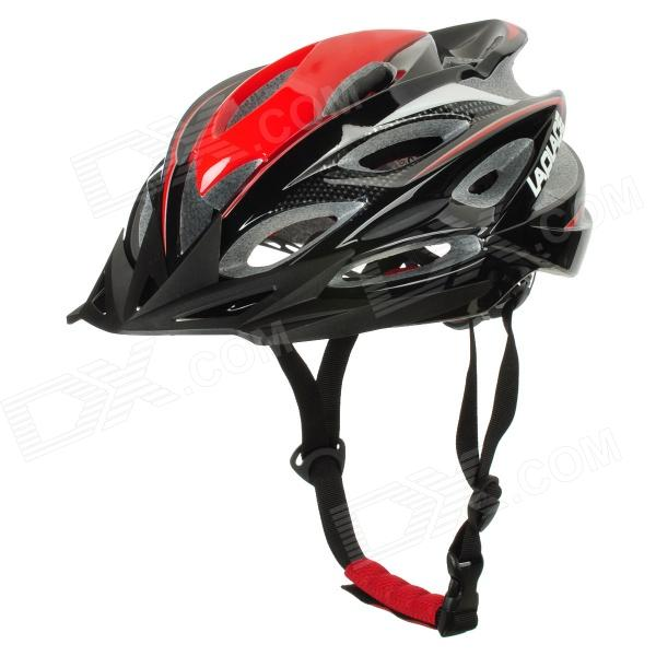 Laplace A6 Cool Outdoor Bike Bicycle Cycling Helmet - Black + Red (58~62cm)