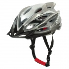 Laplace A6 Outdoor Bike Bicycle Cycling Helmet - Grey + White (58~62cm)