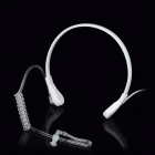 Stylish Anti-Radiation Throat Vibration Microphone Headset for Iphone 4 / 4S / HTC / Samsung - White