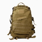 High Quality 3D Tactical Outdoor Double Shoulder Backpack Bag - Coyote Tan
