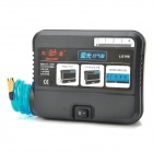VOLCANO LG100 Car Cigarette Lighter Powered Electric Air Pump Compressor w/ 1-LED - Black (DC 12V)