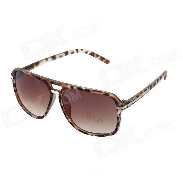 Stylish Leopard Plastic Frame Resin Lens UV 400 Protection Sunglasses cy8150 fashion women s resin uv400 protection sunglasses leopard pattern frame