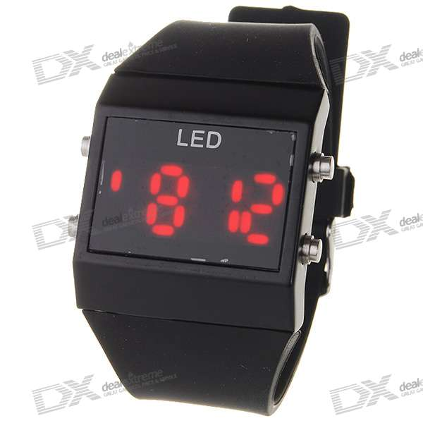 Segment LED Display Date/Time Fashion Watch - Water Resistent