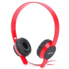 Sonun SN-U1 Stereo Headset Headphone w/ Mic for Iphone - Red + Black (3.5mm Plug / 135cm-cable)