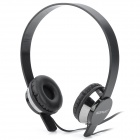 Sonun SN-U1 Stereo Headset Headphone w/ Mic for Iphone - Silver + Black (3.5mm Plug / 135cm-cable)