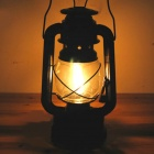 Outdoor Portable Kerosene Lamp Lantern - Black