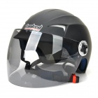 Tanked T-505 Outdoor Motorcycle Electric Bike ABS Helmet - Black (Size L)