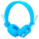 Kanen IP-850 Foldable Headset Headphone w/ Microphone - Blue + Silver (3.5mm Plug / 153cm-Cable)