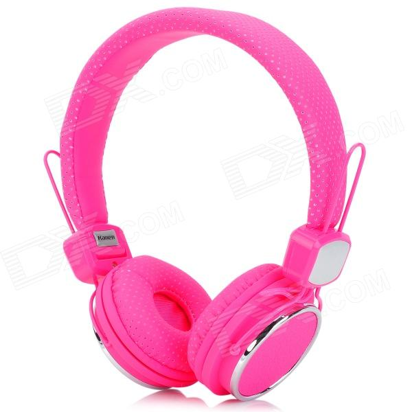 Kanen IP-850 Foldable Headset Headphone w/ Microphone - Pink + Silver (3.5mm Plug / 153cm-Cable) kanen ip 850 foldable headset headphone w microphone pink silver 3 5mm plug 153cm cable