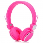 Kanen IP-850 Foldable Headset Headphone w/ Microphone - Pink + Silver (3.5mm Plug / 153cm-Cable)
