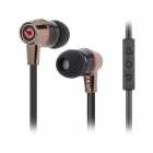 BIDENUO G360 Stylish In-Ear Earphone w/ Microphone for Iphone / Ipad / Ipod - Red + Black (3.5MM)