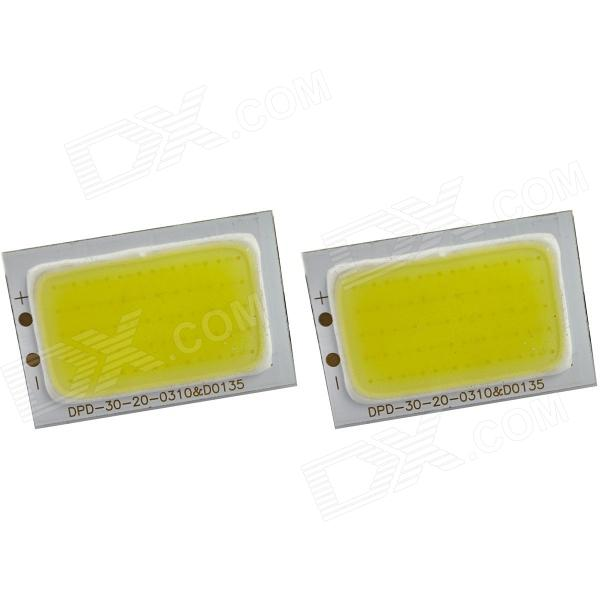 DIY 30x20mm 1.8W 7000K 190lm White Light COB LED Module (9~11V / 2 PCS) e cap aluminum 16v 22 2200uf electrolytic capacitors pack for diy project white 9 x 10 pcs