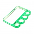 Protective Bumper Frame Case w/ Ring Handle for Iphone 5 - Green