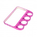 Plastic Knuckle Protective Frame for Iphone 5 - Deep Pink