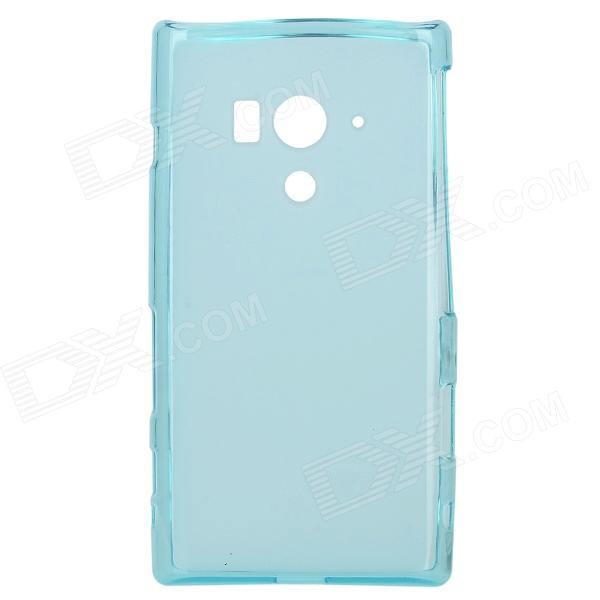 Protective TPU Back Case + Water Resistant Bag for Sony Xperia acro S LT26w - Translucent Blue ikki x pattern protective tpu case for sony xperia z2 tablet p511 p512 translucent blue