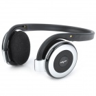B-730 Stylish Sports Rechargeable MP3 Player Stereo Headphone w/ FM / TF Slot - Silver Grey + Black